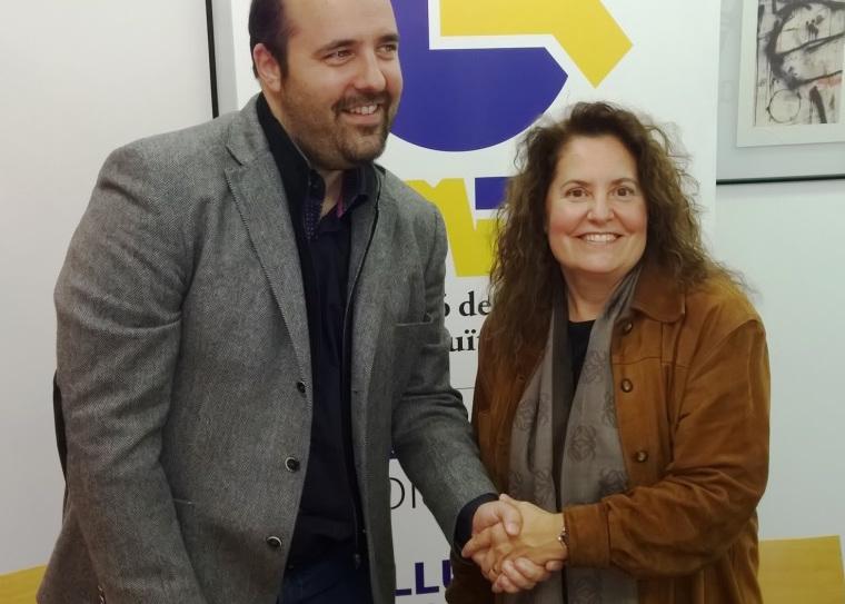 Signatura del conveni amb el Mora Banc