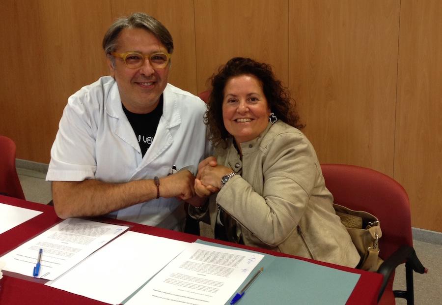 Signatura del conveni amb l'Institut Guttmann